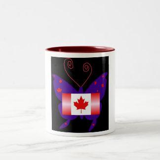 Kanadischer Diva-Schmetterling Zweifarbige Tasse