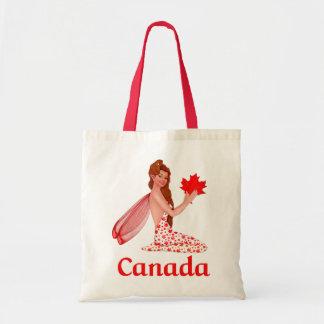 Kanadischer Elf mit Ahornblatt Tragetasche