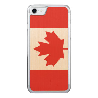 Kanadischer Flaggen-Ahornblatt iPhone 7 Carved iPhone 8/7 Hülle