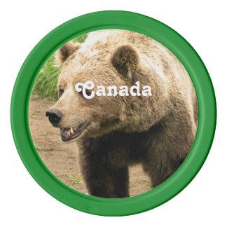 Kanadischer Graubär Pokerchips