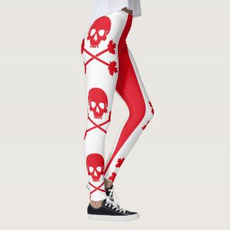 Kanadischer Piraten-Totenkopf mit gekreuzter Leggings