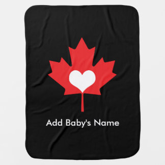 Kanadischer Stolz - i-Liebe-Kanada-Ahorn-Blatt Kinderwagendecke