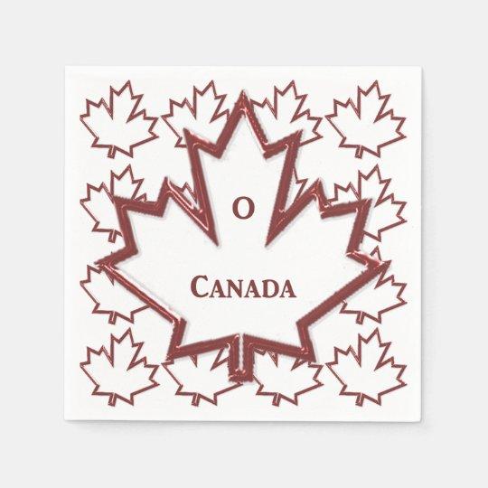 Kanadisches Ahornblatt-Papierservietten Papierservietten