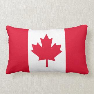 Kanadisches Flaggen-Ahornblatt rotes weißes Kanada Zierkissen