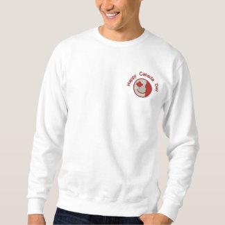 Kanadisches glückliches Gesicht gestickt Besticktes Sweatshirt