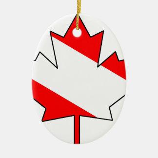 Kanadisches Taucher-Ahornblatt (TM) gefüllt Keramik Ornament