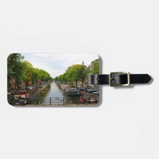 Kanal, Brücken, Fahrräder, Boote, Amsterdam, Kofferanhänger
