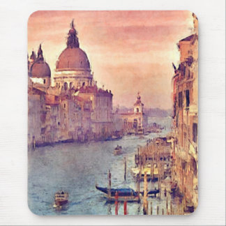 Kanal-PastellWatercolor Chic-Vintager Italiens Mauspads