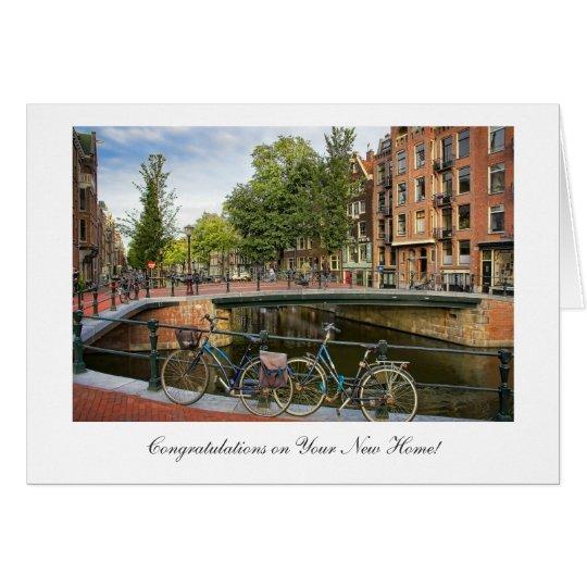 Kanal-Überfahrt - Glückwünsche auf neuem Zuhause Grußkarte