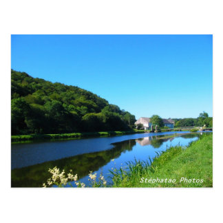 Kanal von Nantes in Brest die BRETAGNE FRANKREICH Postkarte