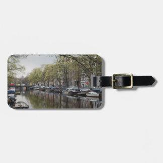 Kanäle in Amsterdam, Holland Kofferanhänger