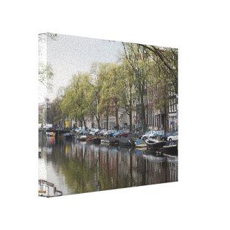 Kanäle in Amsterdam, Holland Leinwanddruck