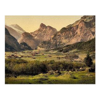 Kandersteg Dorf, Bernese Oberland, die Schweiz Postkarte