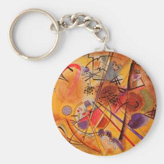 Kandinsky abstrakte Grafik Standard Runder Schlüsselanhänger