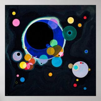 Kandinsky einige Kreis-abstrakte Malerei Poster