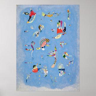Kandinsky Himmel-Blau-Plakat Poster
