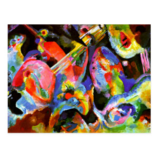 Kandinsky - Improvisations-Überschwemmung Postkarte