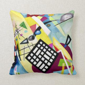 Kandinsky - schwarzes Gitter Kissen