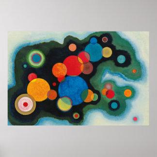 Kandinsky Zusammensetzung Deeped Poster