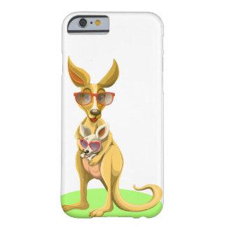 Känguru mit Gläsern Barely There iPhone 6 Hülle