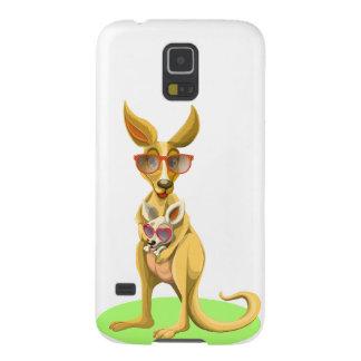 Känguru mit Gläsern Hülle Fürs Galaxy S5