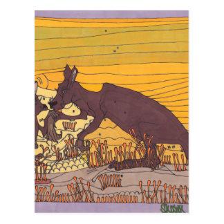 Kängurus Postkarte