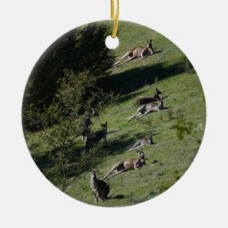 Kängurus Rundes Keramik Ornament