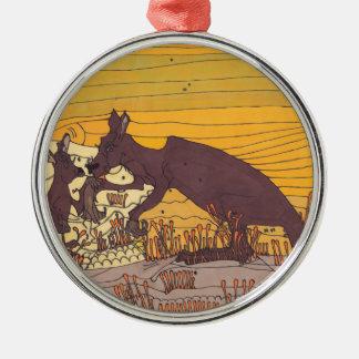 Kängurus Silbernes Ornament