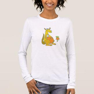 Kängurus und Kinder Langarm T-Shirt