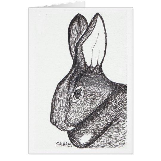 Kaninchen-Anmerkungs-Karten-freier Raum nach innen Mitteilungskarte