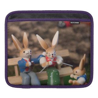 Kaninchen-Familie Ostern iPad Sleeve