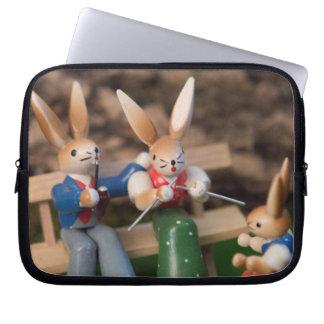 Kaninchen-Familie Ostern Laptop Sleeve