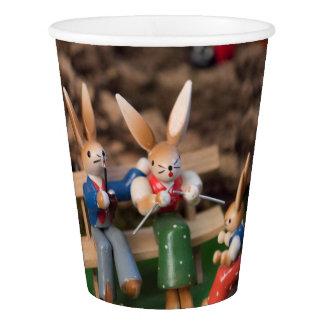 Kaninchen-Familie Ostern Pappbecher