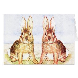 Kaninchen Grußkarte