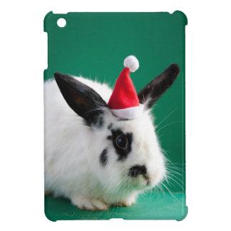 Kaninchen im Weihnachtshut Hüllen Für iPad Mini