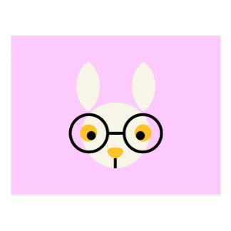 Kaninchen-Kaninchen-Häschen-Kopf-niedlicher Postkarte