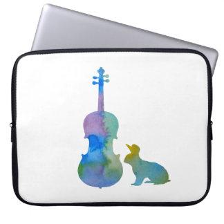 Kaninchen mit Violakunst Laptop Sleeve