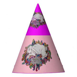 Kaninchen springt Gänseblümchen-Partyhut Partyhütchen