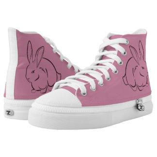 Kaninchenblumendekoration Hoch-geschnittene Sneaker