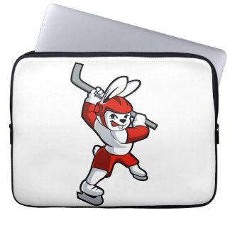 Kaninchenhockey-Cartoon Laptopschutzhülle