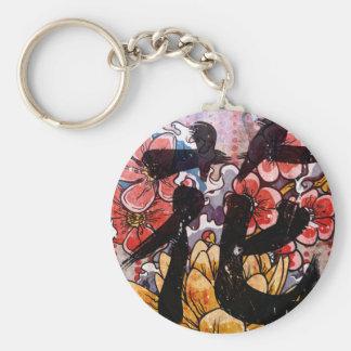 Kanji de fleur porte-clés