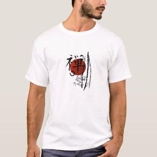 KanjiZen mit Enso und Bambus T-Shirt