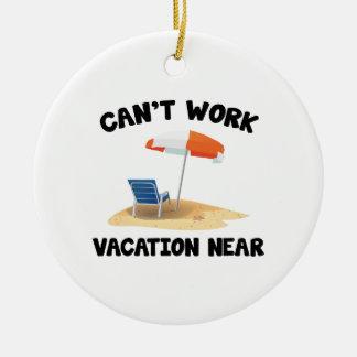 Kann Ferien nicht nahe bearbeiten Rundes Keramik Ornament