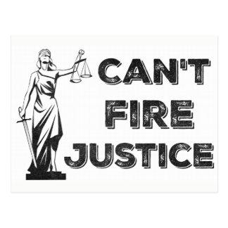 Kann Gerechtigkeits-Protest-Postkarte nicht Postkarte
