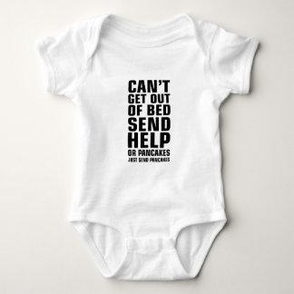 Kann nicht ein Bett verlassen senden Pfannkuchen Baby Strampler