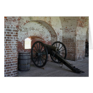 Kanone am Fort Pulaski Karte