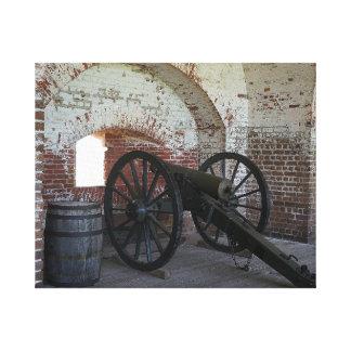 Kanone am Fort Pulaski Leinwanddruck