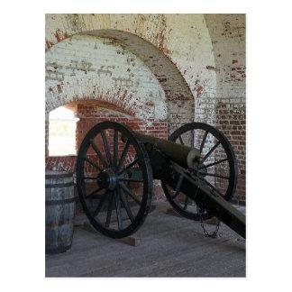 Kanone am Fort Pulaski Postkarte