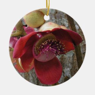 Kanonenkugel-Blumenverzierung Keramik Ornament