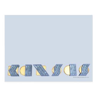 KANSAS (Blau und Gold) Postkarte